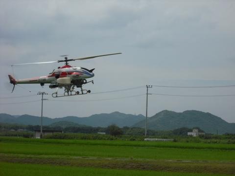 無人ヘリによる基幹防除(23.8.24)JPG.JPG